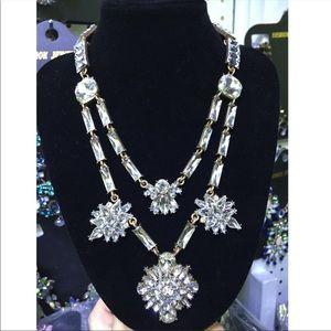 •Double the Glam•Crystal Statement Necklace